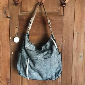 Sorial Snakeskin Leather shoulder hobo Bag